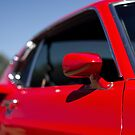 Red Mustang mirror by Norman Repacholi