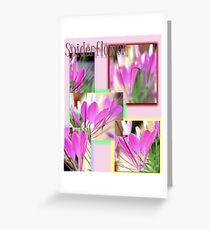 Spiderflower Collage Greeting Card