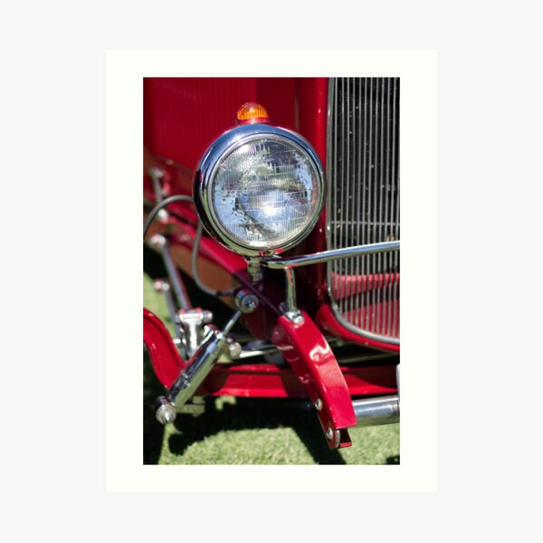 Point Straight Ahead Red Art Print
