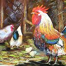 Chooks in the barnyard by patty123