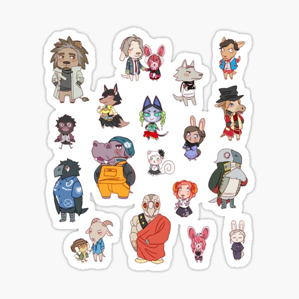 Nonary Game: Animal Crossing Edition (Large/X-Large Sticker Sheet) Sticker