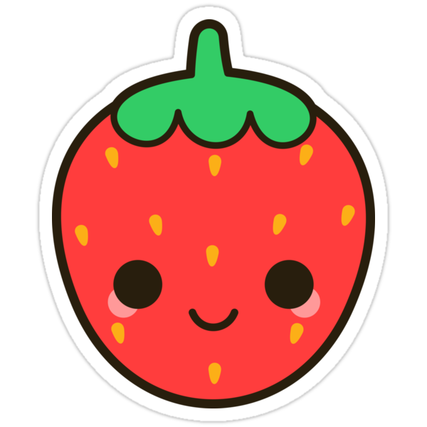 """Cute strawberry"" Stickers by peppermintpopuk 