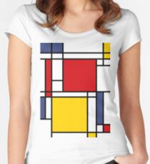 Mondrian Women's Fitted Scoop T-Shirt