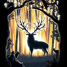 Deer God Master of the Forest by barrettbiggers