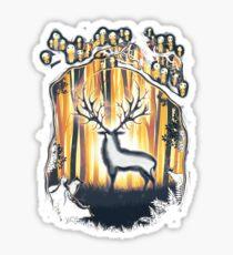 Deer God Master of the Forest Sticker