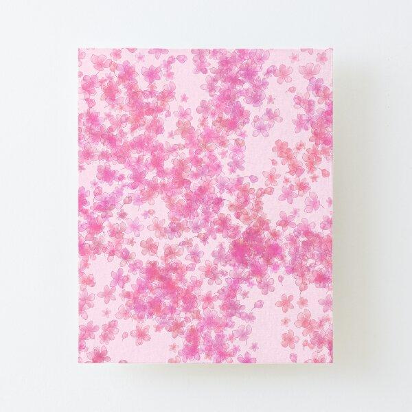 Pink Sakura Blossoms Canvas Mounted Print