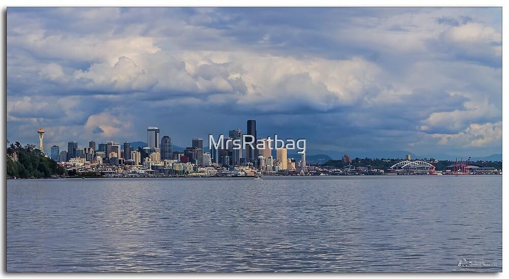 Seattle skyline from Elliott Bay by MrsRatbag