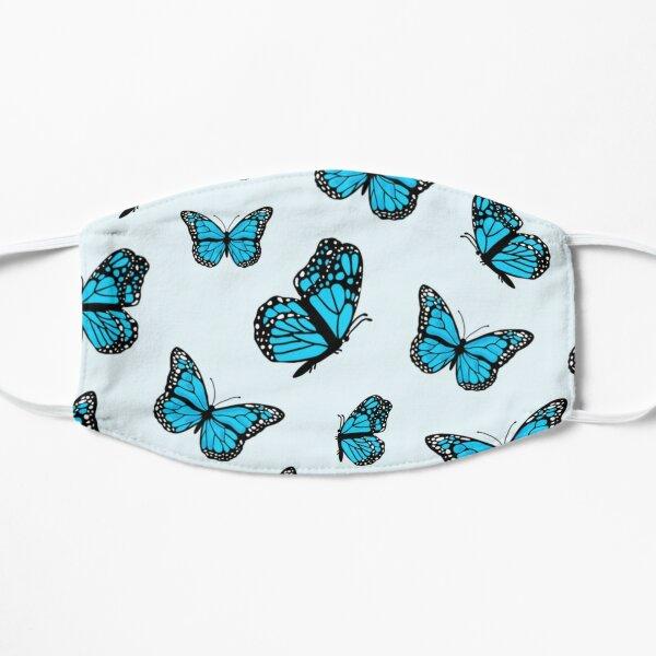 Blue Monarch Butterflies Flat Mask
