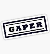 Gaper Stamp (Black) Sticker