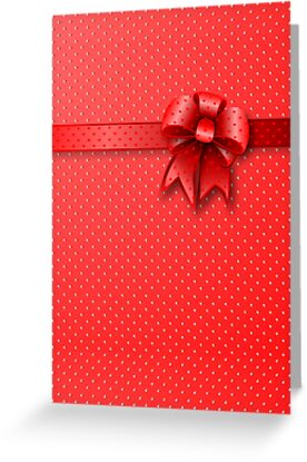 Card Red Bow by MEDUSA GraphicART