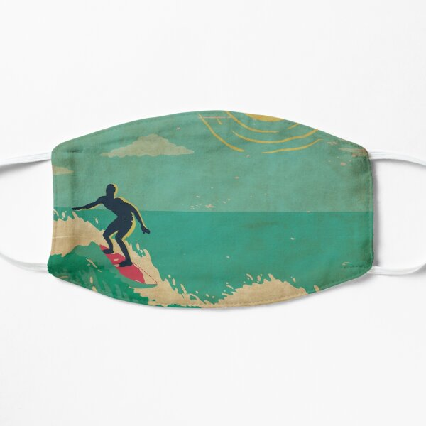 Surf's Up Hawaii Vintage Kitschy Tropical Holiday Mask