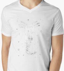 Axolotl Print Mens V-Neck T-Shirt
