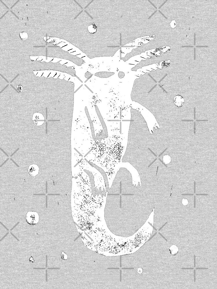 Axolotl Print by SophieCorrigan
