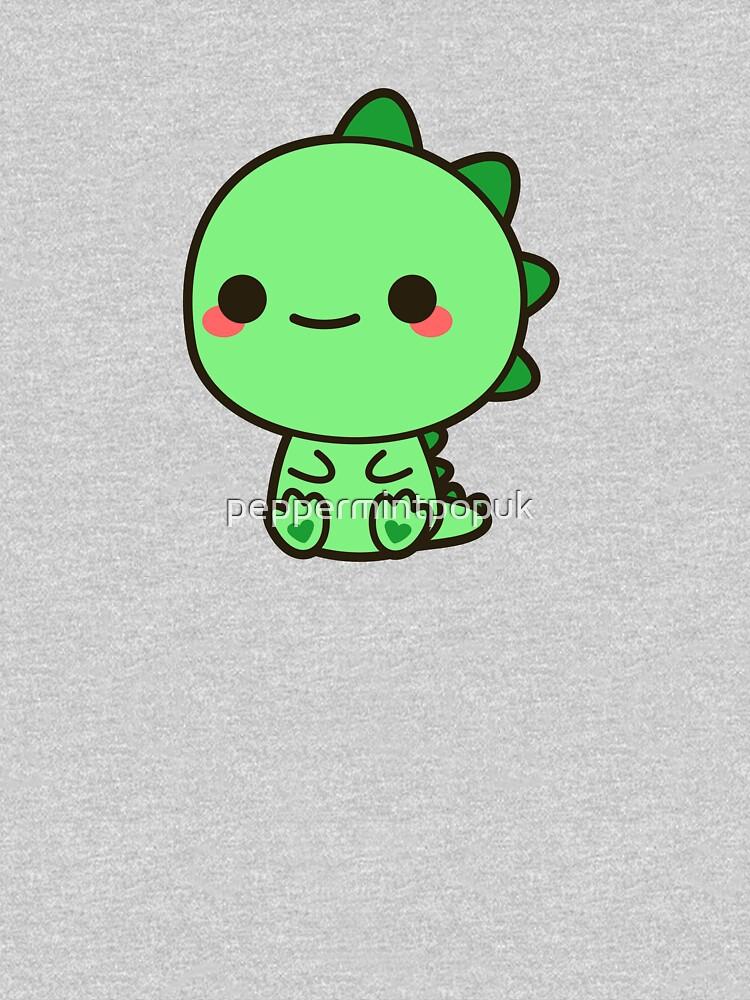 Kawaii Dinosaur by peppermintpopuk