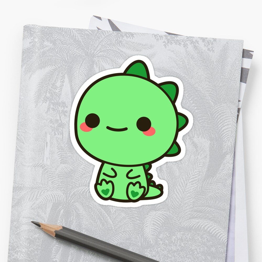 Quot Kawaii Dinosaur Quot Sticker By Peppermintpopuk Redbubble