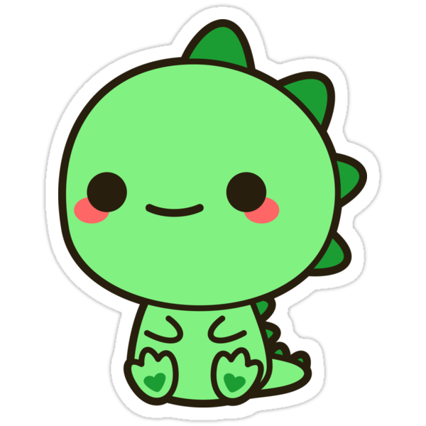 """Kawaii Dinosaur"" Stickers by peppermintpopuk 
