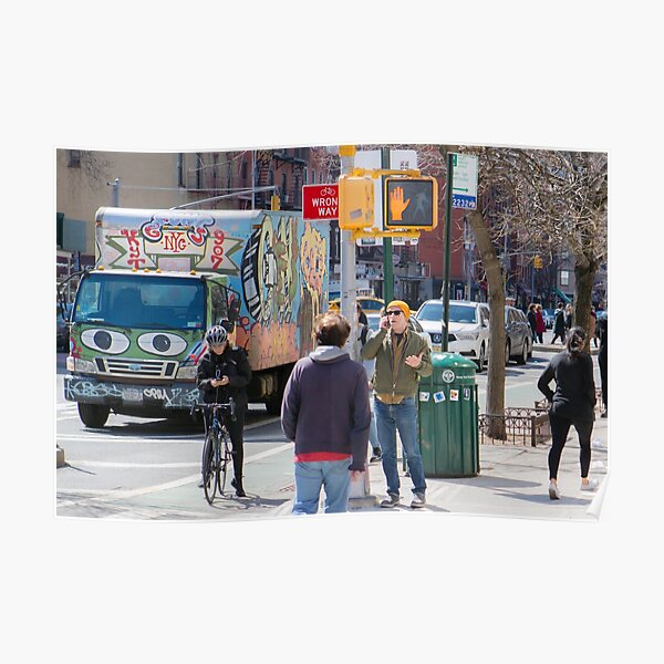 East Village Streets, New York, NY, 10009 Poster