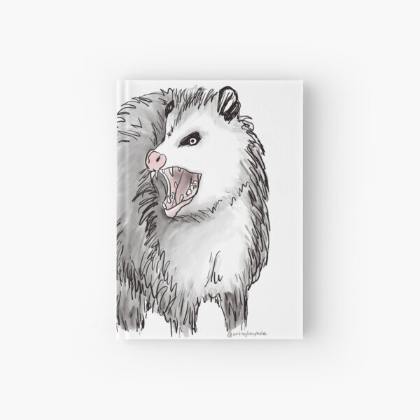 Social Distancing Opossum Possum Hardcover Journal