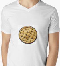 Apple pie isolated on white Men's V-Neck T-Shirt