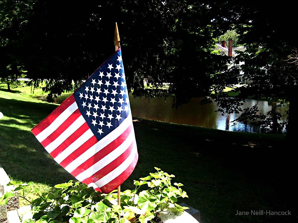 Stars and Stripes at Ringwood Manor, 4th of July by Jane Neill-Hancock