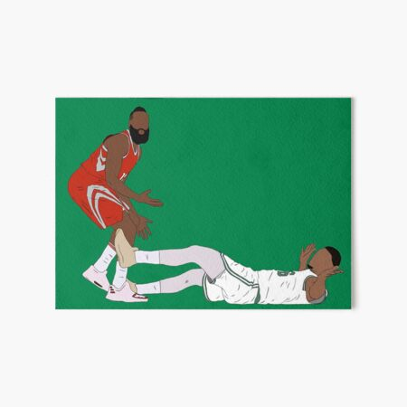 Marcus Smart Draws The Charge Art Board Print