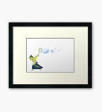 Bubble Samurai Framed Print