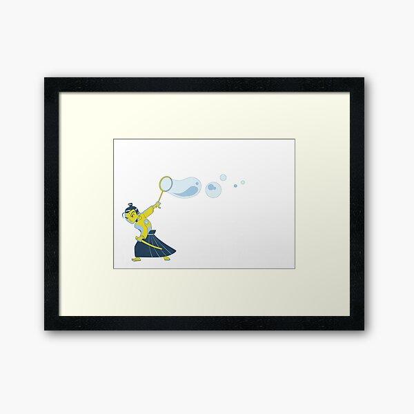 Bubble Samurai Framed Art Print