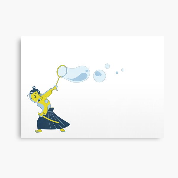 Bubble Samurai Canvas Print