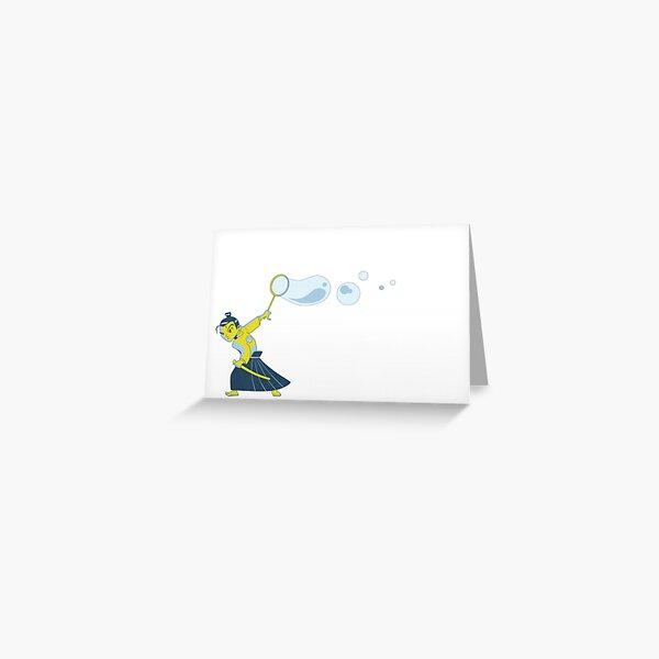 Bubble Samurai Greeting Card