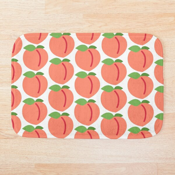 Peach Emoji Bath Mat