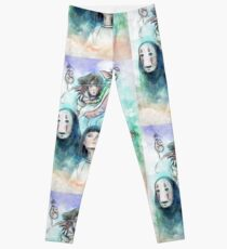 Spirited Away Miyazaki Tribute Watercolor Painting Leggings