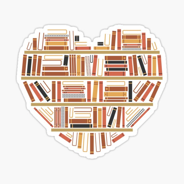 I Heart Books Pegatina