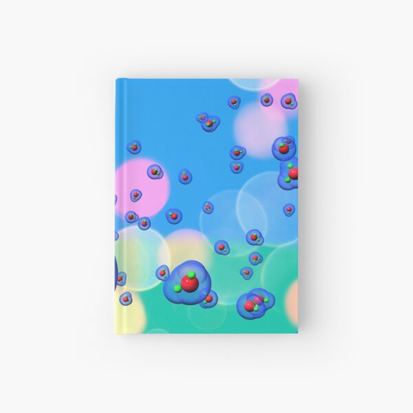 Water Molecules Candy Sky Hardcover Journal