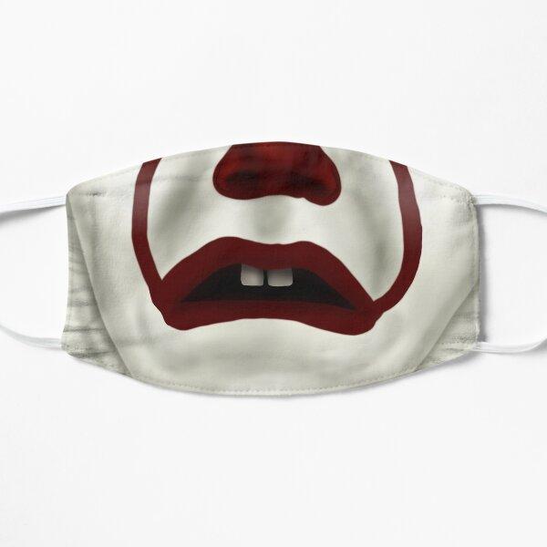 The dancing clown frown Flat Mask