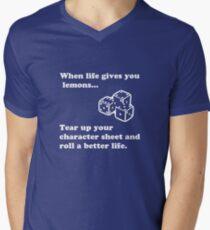 Lemons Mens V-Neck T-Shirt
