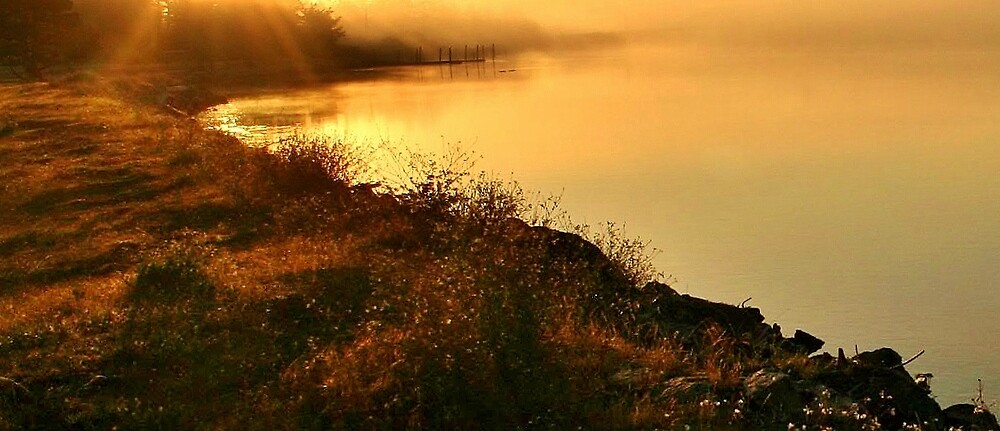 Coquille River at Sunrise by Ran Richards