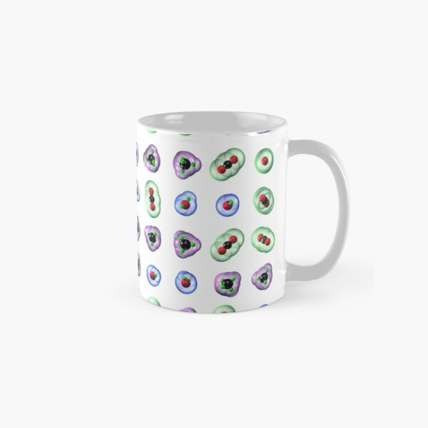 Greenhouse Gas Molecules on White Classic Mug
