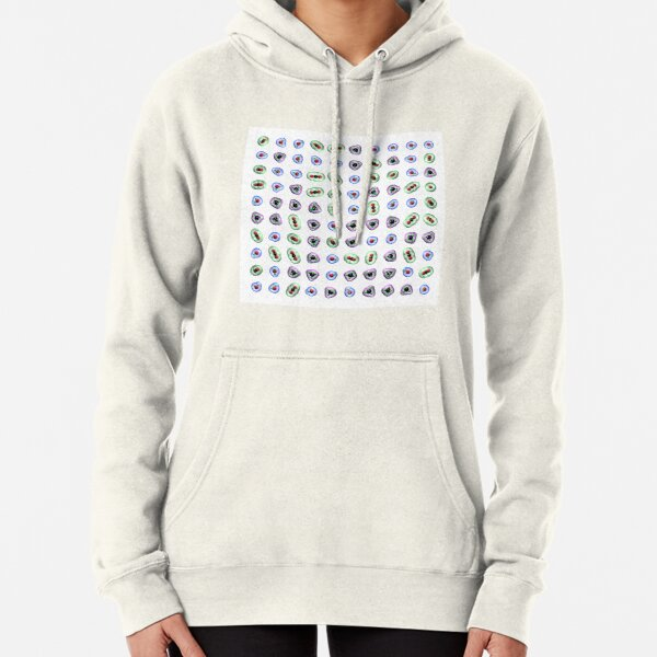 Greenhouse Gas Molecules on White Pullover Hoodie
