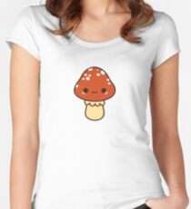 Kawaii red toadstool Women's Fitted Scoop T-Shirt