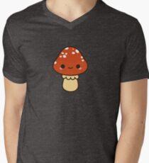 Kawaii red toadstool Men's V-Neck T-Shirt