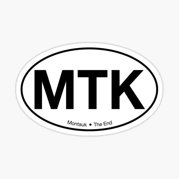 Montauk Long Island Oval Car Sticker Sticker