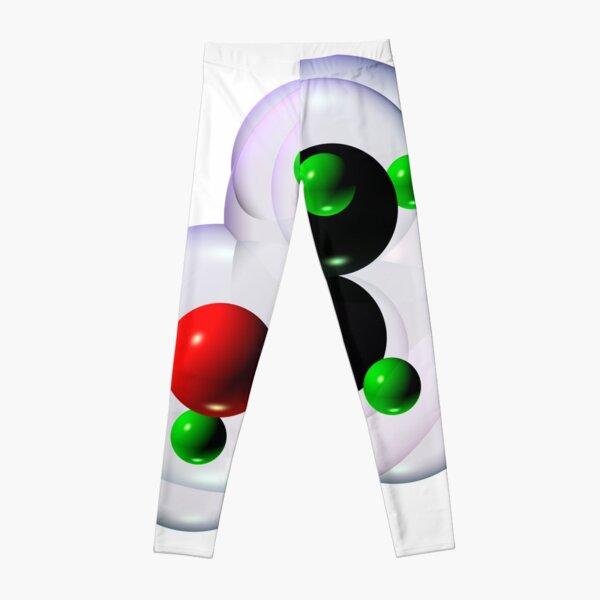 Alcohol Molecule on White Leggings