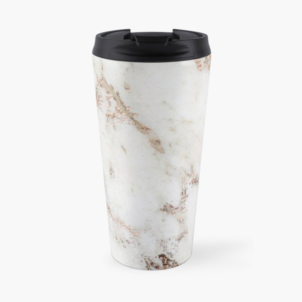 Artico marble - rose gold accents Travel Mug