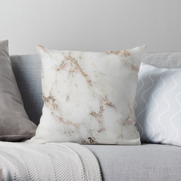 Artico marble - rose gold accents Throw Pillow