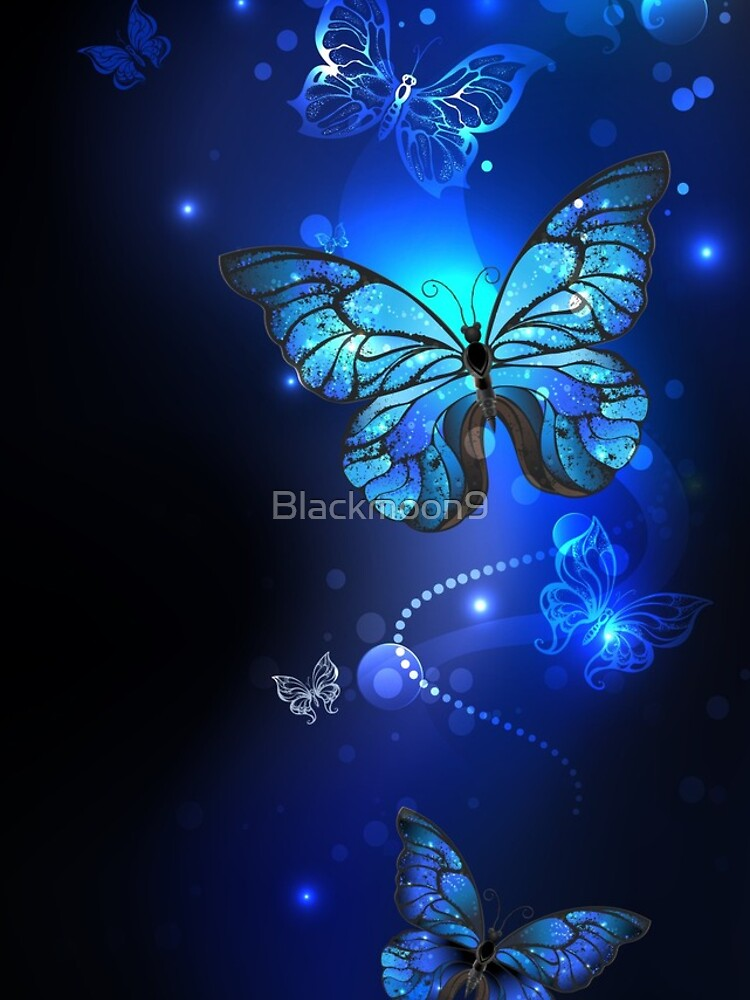 Morpho Butterfly in the Dark by Blackmoon9