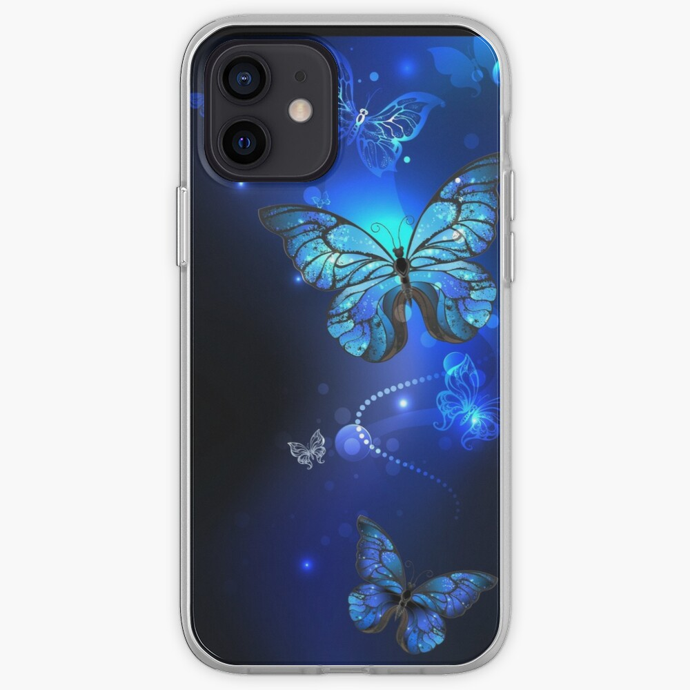 Morpho Butterfly in the Dark iPhone Case & Cover