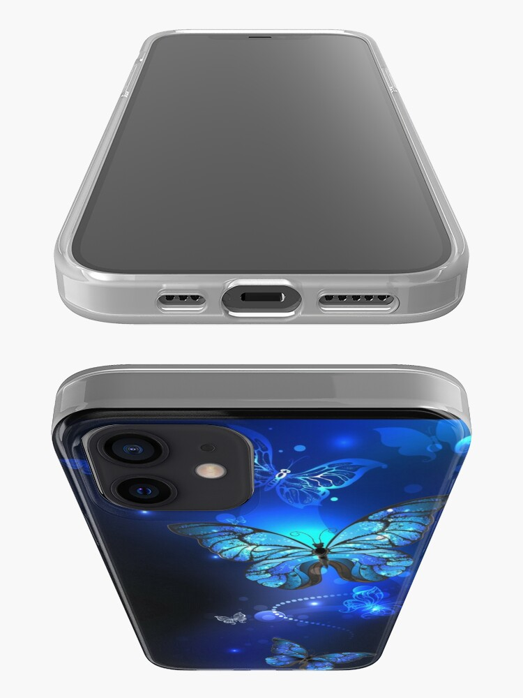 Alternate view of Morpho Butterfly in the Dark iPhone Case & Cover