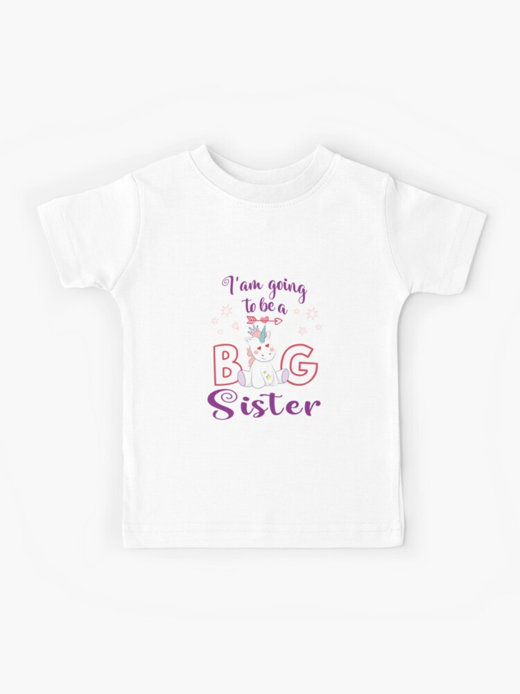 Kids Youth T Shirt I/'m going to be a Big Sister New Baby Anouncement