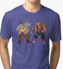 Bebop Rocksteady - Funny big print Tri-blend T-Shirt