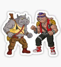 Bebop Rocksteady - Funny big print Sticker